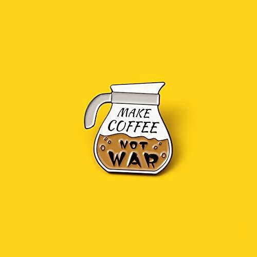 SHAOWU Benutzerdefinierte Machen Kaffee Broschen Kaffeekanne Emaille Pins Tasche Kleidung Anstecknadel Cafe Abzeichen Cartoon Schmuck Geschenk für Kinder Freund style1