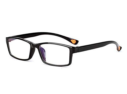 JKRJNN Lesebrille, Anti-Blau-Licht Anti-Ermüdungs-Lese Sonnenbrillen for Frauen Männer, Super Light Rahmen, Schwarz (Size : +3.50)