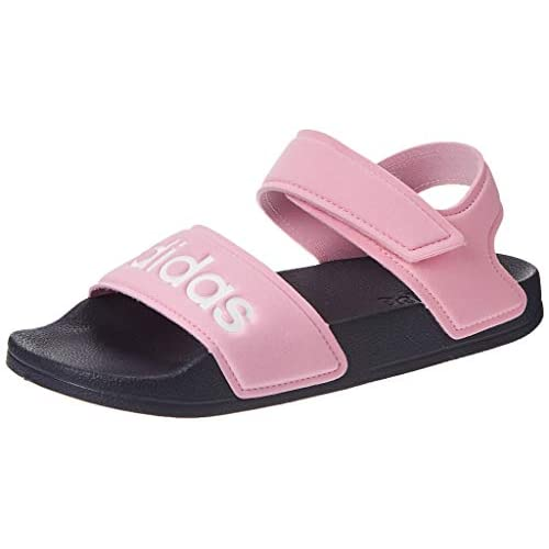 adidas Adilette Sandal K, Scarpe da Ginnastica Unisex-Bambini, Vero Rosa/Ftwr Bianco/Blu Traccia F17, 35 EU