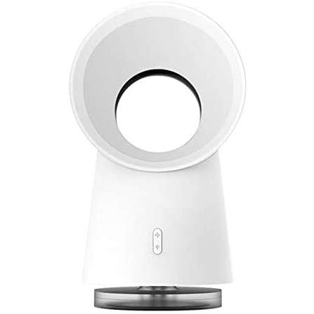 Fikujap Ventilador sin aspas del Ventilador de Escritorio humidificador de Niebla Ventilador de refrigeración luz LED en 1 Mini en el Caso de Happy Life 3