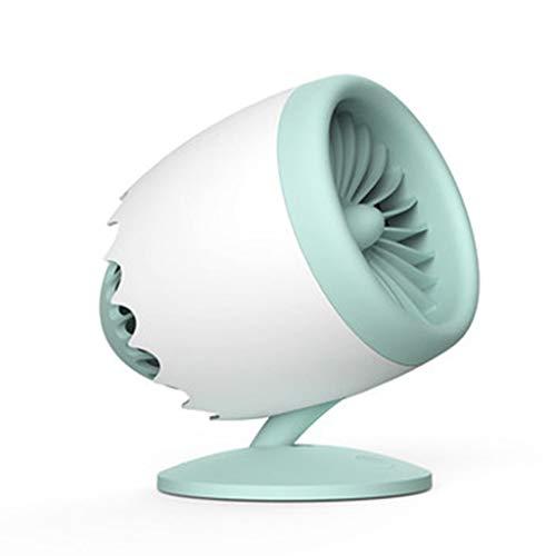 NAF Fan Vortex Ventilador USB de escritorio pequeño ventilador portátil silencioso para el aula, dormitorio de aprendizaje, ángulo ajustable (color: verde, tamaño: 145 x 120 x 163 mm)