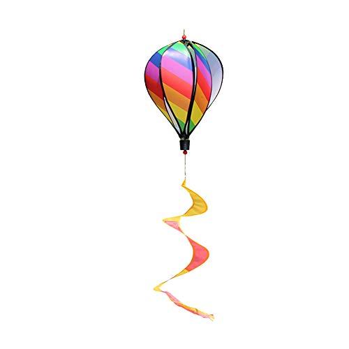 Ruiting Globo Viento,Globo de Aire Caliente,Globo aerostático Espiral Juego de viento Globo Espiral Viento Creativa Decoración para Cumpleaños de Niños y Fiestas (arco iris)
