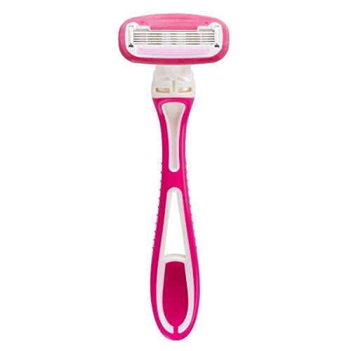 Personna Women's 5-Blade Disposable Shaving Razor - 9 Count Disposable Ladies Razor