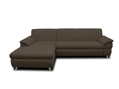 DOMO Collection Ecksofa Bounty | L-Form Eckcouch | 266x172x82 cm | Wohnlandschaft Polsterecke Sofa Garnitur in braun