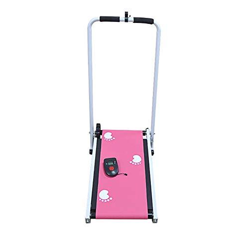 Fitness Jogging Macchina Mini Meccanica Tapis Roulant, Ultra Magro e Silenzioso in Esecuzione Cintura con Schermo Destinato per Casa o Ufficio