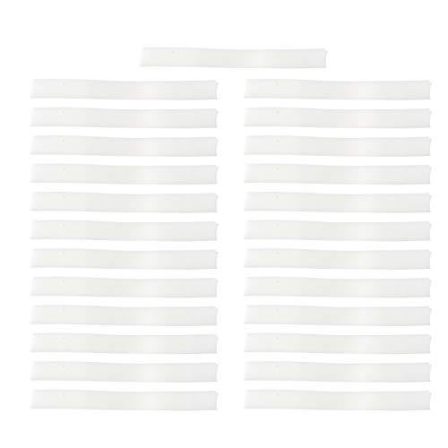 EXCEART 50 Stücke Nasen Brücken Pads Antibeschlag Nasenbrücke Brille Anti-Nebel Nasenbügel Mundschutz Bügel Brillenträger Schwamm Nasenstreifen für Gesichtsschutz Gesichtsabdeckung Weiß