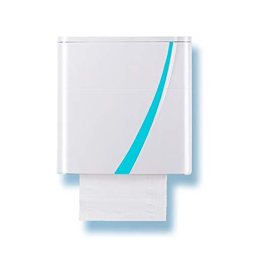 JISHIYU-Q Soporte para Papel higiénico, Caja de Almacenamiento de Pared autoadhesiva, portarrollos de Papel a Prueba de Agua/Polvo, para baño/Inodoro (Blanco) (Color : Blue)