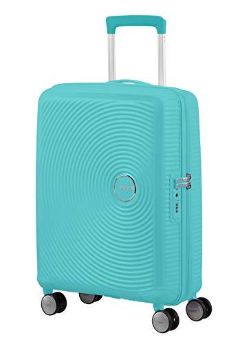 American Tourister Soundbox - Spinner S Expandible Equipaje de Mano, 55 cm, 35.5/41 L, Azul (Poolside Blue)