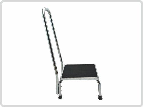 Trittstufe aus Metall mit gebogener Haltegriff, Fußtritt, Trittstufe,Tritthocker