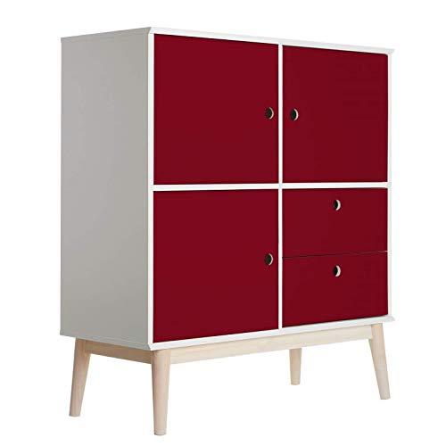 Meubelfolie - Uni Burgundy plakfolie folie zelfklevend PVC voor kasten, tafels, deuren rood decoratie Wall-Art 100x100 cm rood