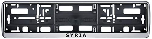 Auto Kennzeichenhalter Syrien Syria Fahne Flagge 2 Stück
