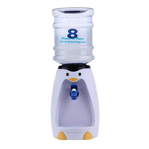 QueenHome Wasserspender Mit Mini Desktop Wasserspender Pinguin Getränkespender Mit 2.5L Wasserflasche Ohne Heizung Pinguin Geformt Arbeitsplatte Trinkspender Für Zuhause Büro Oder Schule