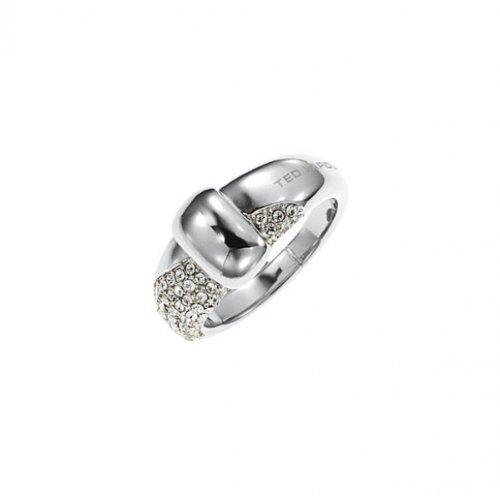 Ted Lapidus Damen Ring, Edelstahl, Zirkonoxid, 54 (17.2), D21123Z54