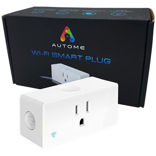 Autome Wifi Smart Plug – Smart Outlet for Home Automation w/Alexa, Google, IFTTT – App Control Remote from Any Location [1pk]