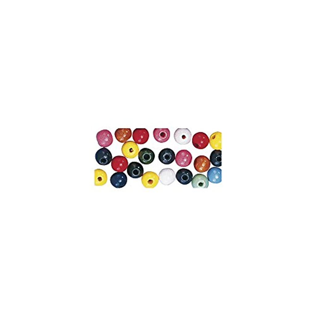 Rayher 1250249 Wooden Beads FSC 100% Polished 8 mm Bulk Pack of 82 g