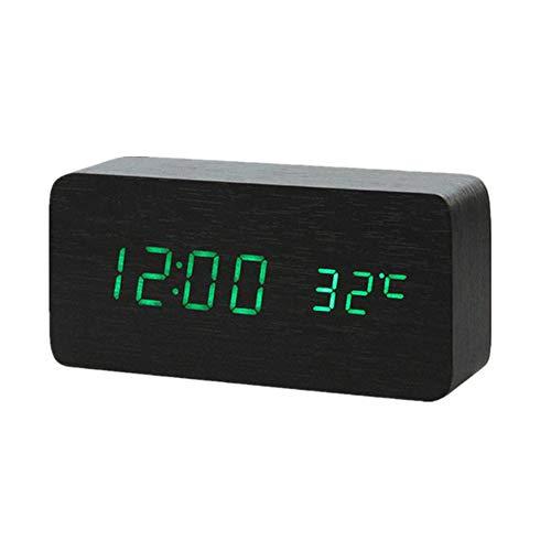 hanbby Retro wecker projektionswecker mit Radio Digitaluhren Digitaluhren Nacht Tischuhr Tischuhr Wecker am Bett Sonnenaufgang Wecker Projektionswecker Green 2