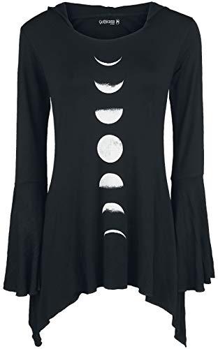 Gothicana by EMP Bat Country Mujer Camiseta Manga Larga Negro L, 95% Viscosa, 5% elastán, Regular