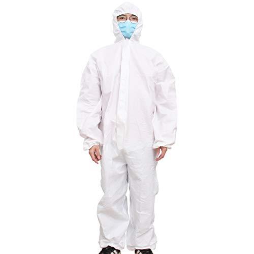 BESPORTBLE Tute Protettive Camici Monouso Protezione Chirurgici Sterile Camici Monouso Medico Tute di Scientifica Industriale con Tuta Cappuccio per Lavori Allaperto (Taglia L)