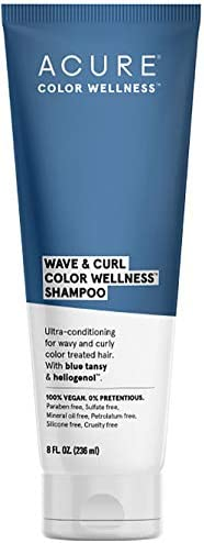 ACURE Wave Curl Color Wellness Shampoo 100 Vegan Performance Driven Hair Care Blue Tansy Sunflower product image