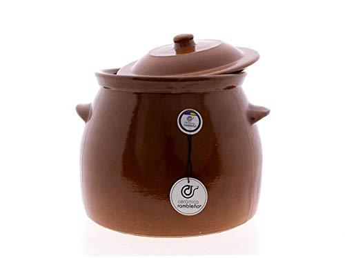 CER�MICA RAMBLEÑA | Olla barro refractario | Olla fuego directo | Olla cerámica tradicional | Olla para pucheros | Olla para guisos | Olla de 7 litros