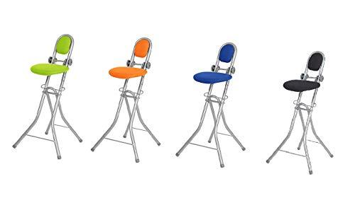 Ribelli Strijkstahulp Staande stoel 6-voudig in hoogte verstelbaar inklapbaar strijkstoel staande stoel ergonomisch zitten - staande stoel met rugleuning