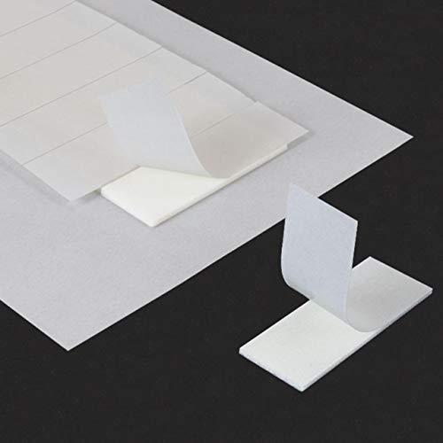 Klebeshop24 Bandes adhésives doubles-faces grande adhésion, 10 x 25 x 1 mm, en mousse, pour le montage de pièces particulièrement petites