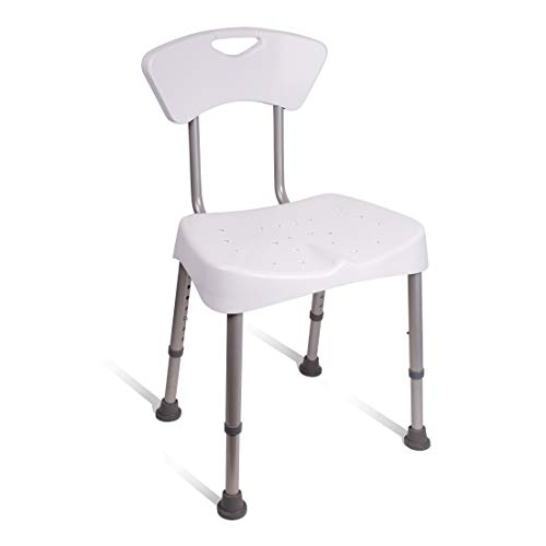 Carex Shower Chair and Bath Seat - Bath Chair With Back For Elderly, Handicap, and Disabled, 350lbs, Easy Assembly