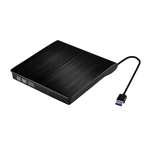 Externes CD DVD Laufwerk, USB 3.0 PC Laufwerk Tragabar CD Brenner Plug and Play, Portable Slim CD/DVD-RW Brenner für alle Laptops/Desktop, Kompatibel mit Win10/XP/Win 7/Win 8/Mac