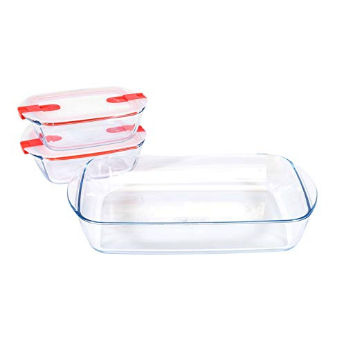 Pyrex Cook & Store Food Containers with Roaster Clear/Transparent