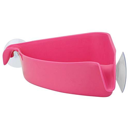 Okuyonic Estante de Almacenamiento Moderno fácil de Instalar montado en la Pared para Cocina(Pink)