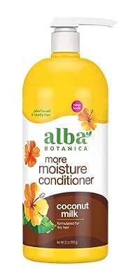 Alba Botanica More Moisture Conditioner, Coconut Milk, 32 Oz