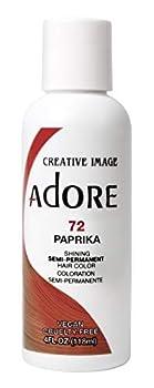 Adore Semi-Permanent Haircolor #072 Paprika 4 Ounce  118ml   2 Pack