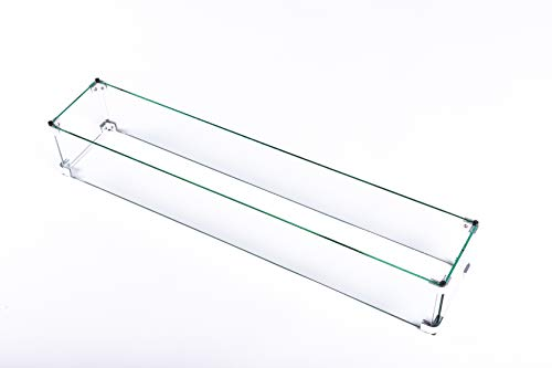 LEGACY HEATING Glass Wind Guard for Rectangular Fire Table (Model-CDFP-rw)