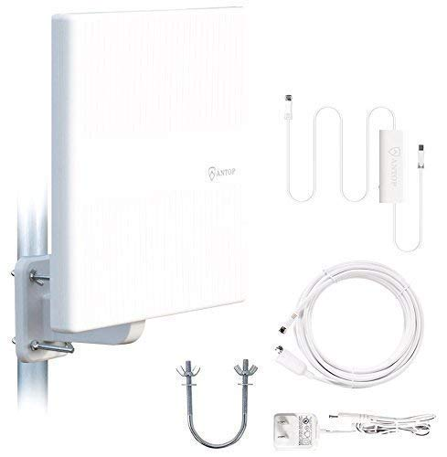 Best Buy! ANTOP Omnidirectional Outdoor TV Antenna, 360° Reception HDTV Antenna 65 Miles with Built...
