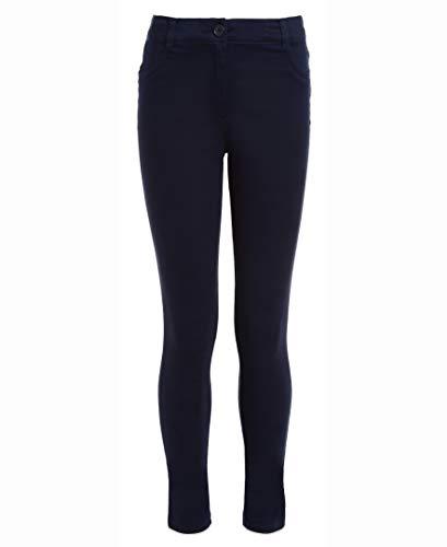 Nautica Girls' Big School Uniform Stretch Twill Skinny Leg Pant, Navy, 16