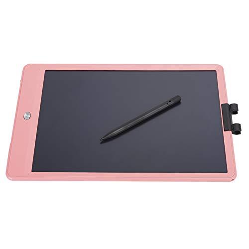 Tablero Doodle, Energía Ligera Almohadilla de Dibujo electrónica de Alta sensibilidad LCD de 10 Pulgadas de Alto Brillo Escritura Gruesa Colorida para la Oficina de la(Pink)