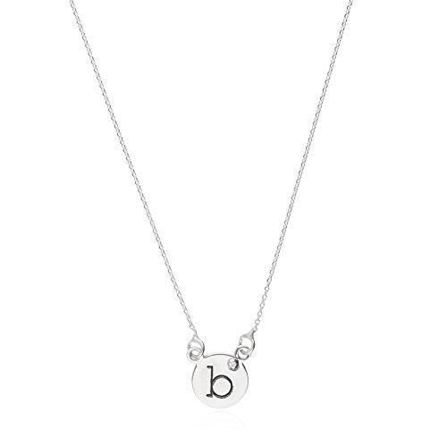 Córdoba Jewels | Gargantilla en Plata de Ley 925. Diseño Letra B