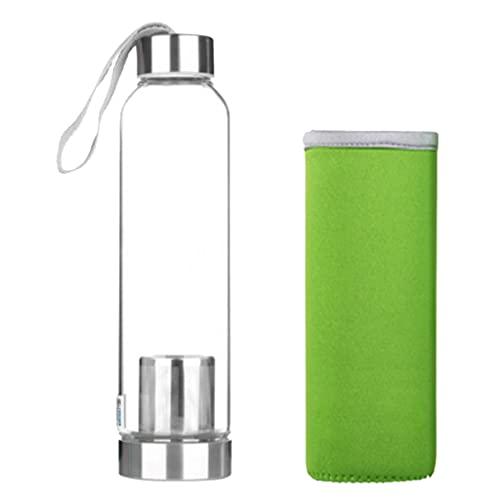 FLAMEER Botella Portátil de La Botella de Viaje de La Botella de Agua de La Cubierta Del Acero Inoxidable Deportes Al Aire Libre - Verde