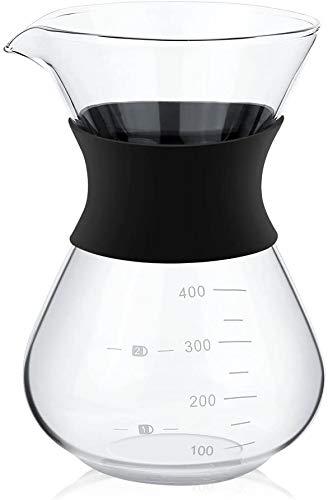 Mavis Laven Versare sopra la caffettiera con filtro, manuale a mano Drip Coffee Maker in vetro con filtro riutilizzabile in acciaio inox