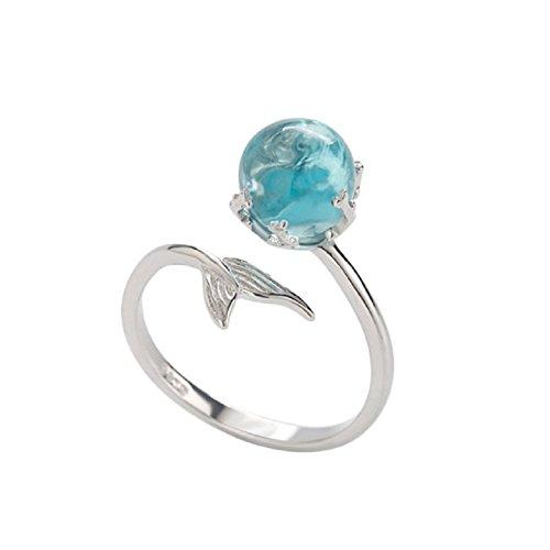 Eudola Damen Ringe, Einstellbarer Ring Einfach Öffnungsring Meerjungfrau Schaum Ring