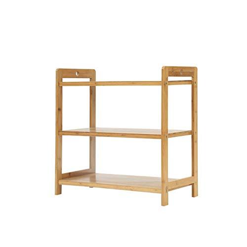 ZAIHW Zapatero, Organizador de bambú, 3 Niveles, 9 Pares de Zapatos, Estante de Almacenamiento Multifuncional, Bueno para Pasillo, Sala de Estar, Dormitorio (tamaño: 90 x 25 x 49,5 cm)