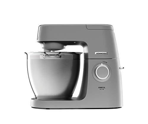 Kenwood Chef XL Elite KVL6320S Küchenmaschine, 6,7 l Edelstahl Rührschüssel, Interlock-Sicherheitssystem, Metallgehäuse, 1400 Watt, inkl. 3-Teiligem Patisserie-Set und Glas-Mixaufsatz, silber