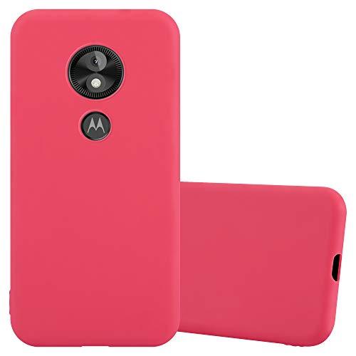Cadorabo Funda para Motorola Moto E5 Play en Candy Rojo - Cubierta Proteccíon de Silicona TPU Delgada e Flexible con Antichoque - Gel Case Cover Carcasa Ligera