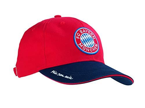 FC Bayern München Kappe | Cap Bayern München Fanshop | Fanartikel Mütze Mit FCB Logo | Baseballcap Mia San Mia (Blau/Rot)