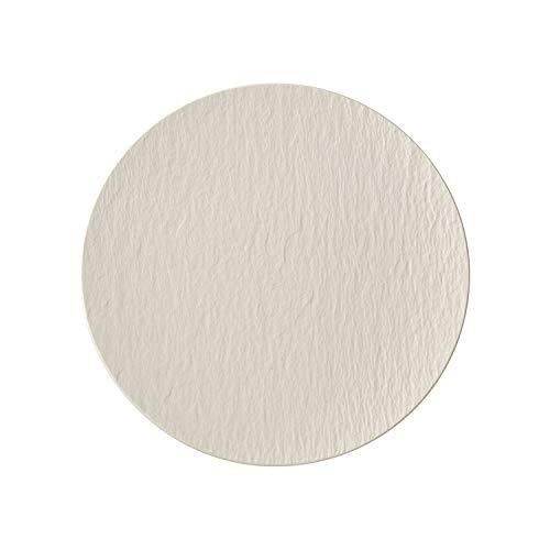 Villeroy & Boch Manufacture Rock Weiß Teller, 25 cm, Premium Porzellan, Weiß