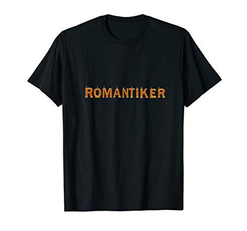 Verliebter Romantiker Romantik bei Kerzenschein im Advent T-Shirt