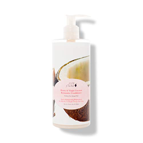 100% PURE Honey & Virgin Coconut Restorative Conditioner (13 Fl Oz), Sulfate Free Conditioner, Nourishing, For Healthier, Stronger Hair, Healthy Hair Growth