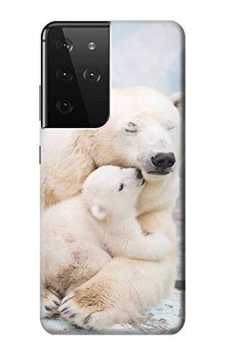R3373 Polar Bear Hug Family Case Cover for Samsung Galaxy S21 Ultra 5G