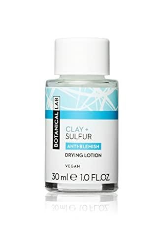 Botanical Lab Clay & Sulphur Drying Lotion 30 ml - traitement des imperfections de nuit avec de l'acide salicylique (la couleur du couvercle peut varier)