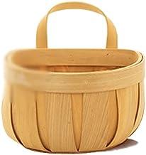 SKGOFGODcw Home Storage Bins Woven Storage Baskets, Rattan Baskets, Small Kitchen Ginger Garlic Baskets, Wall-mounted Bamb...